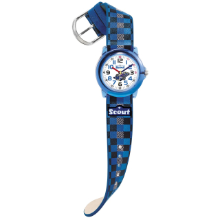 Scout Crystal Race blue 280305015 Kinderuhr Quarz made in Germany EAN 4026687125115
